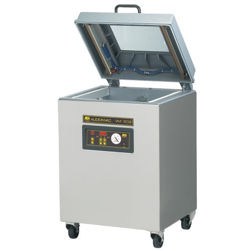 Floor standing vacuum packaging machine