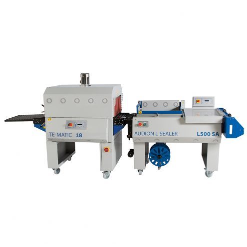 L sealer with shrink tunnel
