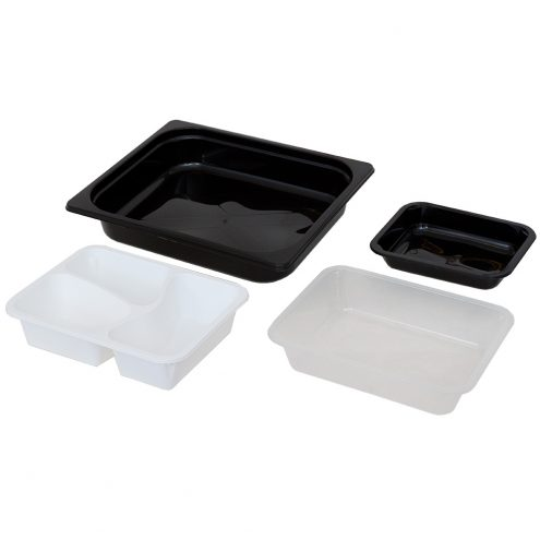 packaging in trays