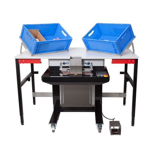 packaging with sorting table